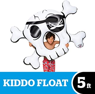 BigMouth Inc. Kiddo Float, Inflatable Skull and Crossbones Pool Float, Durable and Safety-Tested Vinyl