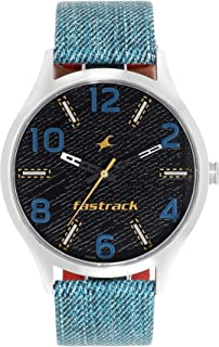 Fastrack Denim Analog Black Dial Men's Watch-3184SL02