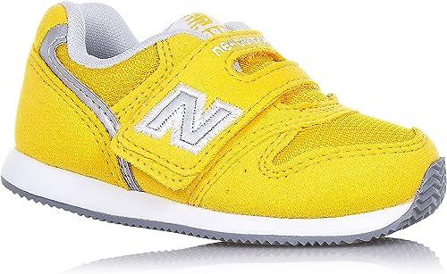NEW BALANCE – Chaussure Gfit 996 Infant, en daim et tissu jaune, avec fermeture à velcro, enfant, garçon