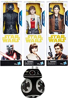 First Order Law Bender Han Solo Action Story Figure Star Wars Set Bundled with Galactic Plushie BB8 Qi'Ra Corellia & Bad Guy Kylo Ren Last Jedi