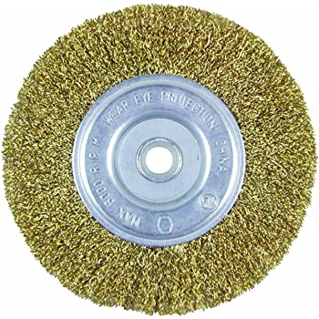 Vermont American 16800 5-Inch Fine Brass Wire Wheel Brush with 1//4-Inch Hex Shank for Drill