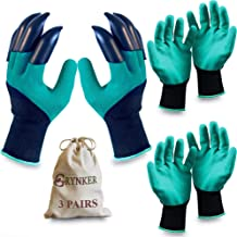 Garden Gloves with Claws - 3 Pairs for Digging, Planting, Weeding, Seeding - Waterproof, Protect Nails and Fingers, Garden...