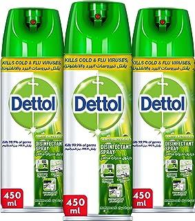 Dettol Morning Dew Disinfectant Spray - Pack of 3