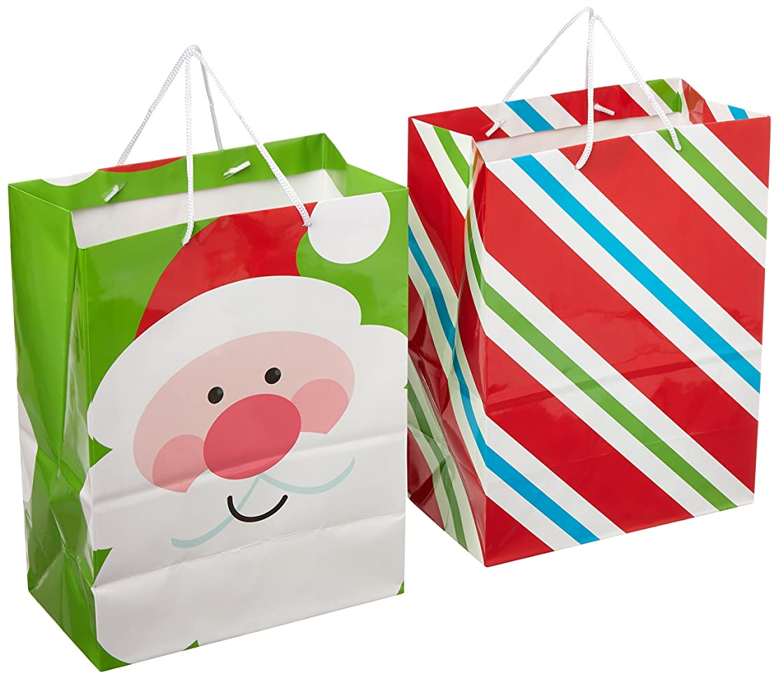 Hallmark Large Christmas Gift Bags, Bright Icons (Pack of 2)
