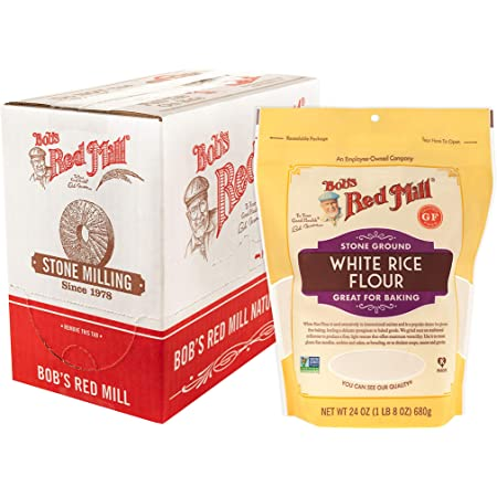 Bob's Red Mill Gluten Free White Rice Flour, 24 Oz (Pack Of 4)