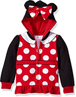 Disney Baby Girls' Toddler Minnie Mouse Costume Zip-up Hoodie