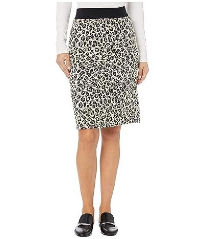 Jones New York Cheetah Skirt (Knit Ivory/Black) Women