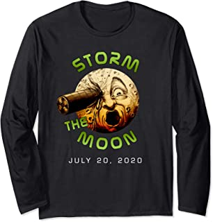 Storm The Moon Funny Rocket In Eye Area 51 Parody Tee Long Sleeve T-Shirt