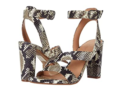 Madewell Liv Asymmetrical Sandal (Heather Natural Multi) Women