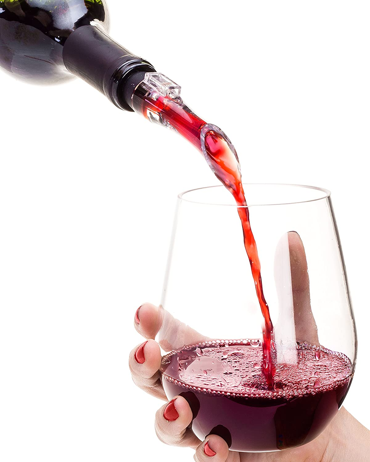 Best Wine Max 78% OFF Aerator Pourer Department store for Gift White Unique Red