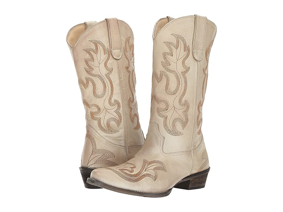 Roper Pearl (Off-White Metallic) Cowboy Boots