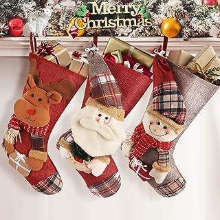 plush christmas stockings large