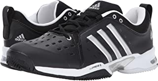 (アディダス) adidas メンズテニスシューズ?スニーカー?靴 Barricade Classic Black/Metallic Silver/White 10 (28cm) 4E - Extra Wide