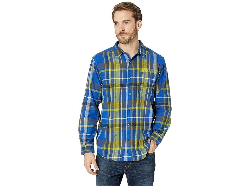 Columbia Boulder Ridge Long Sleeve Flannel (Azul Large Plaid) Men