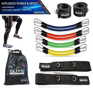 11 st hastighet agilitet styrka kinetiska ben resistensband - fitness träningsband, komplett set för fotboll sparka boxnin...