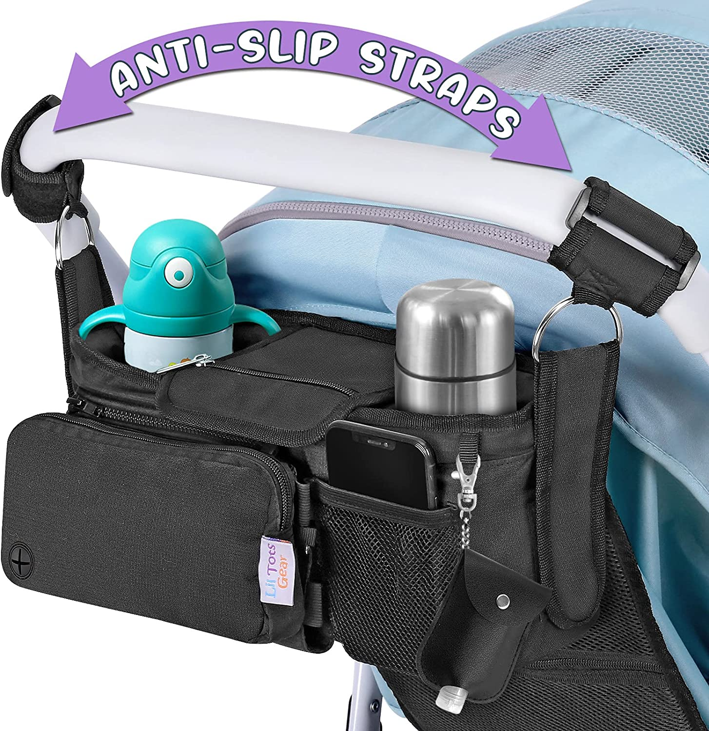 Lil Tots Gear Baby Gifts OFFer Stroller Cup Caddy Insulated Organizer Holder