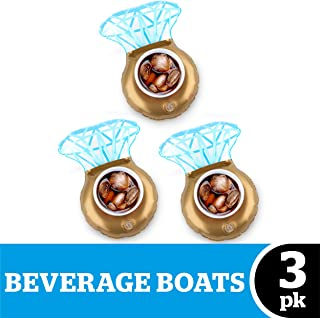 BigMouth Inc. Inflatable Bling Ring Pool Drink Holder Float, 3-Pack, Great for Bachelorette or Engagement Parties