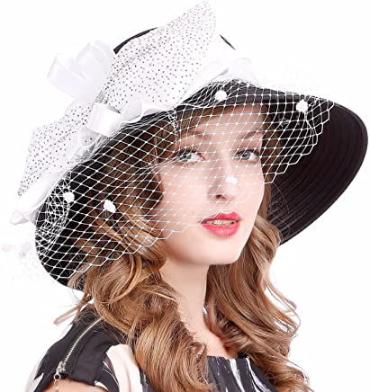 VECRY Kentucky Derby Dress Church Cloche Hat Sweet Cute Floral Bucket Hat