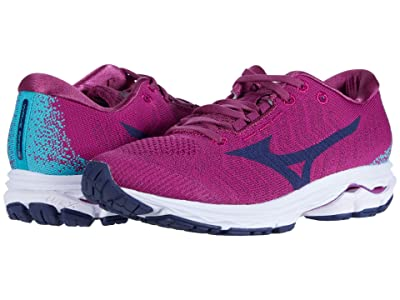 Mizuno Wave Rider WAVEKNITtm 3 (Boysenberry/Medeval Blue) Women