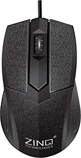 Zinq Technologies ZQ233 Wired Mouse with 1000DPI for Laptop and Desktop (Black)