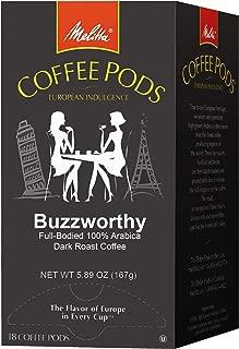 Melitta Coffee Pods for Senseo & Hamilton Beach Pod Brewers, Buzzworthy Dark Roast, 18 Count (Pack of 4)