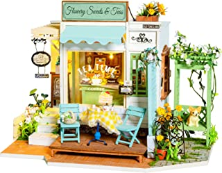 Rolife DIY Miniature Dollhouse Kit 1:24 Scal Tiny House Making Kit with Furniture &LED Home Decor Gifts for Adults/Teens (...