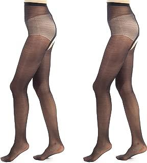 ElsaYX Women's Shiny Glossy Pantyhose Tights Hosiery