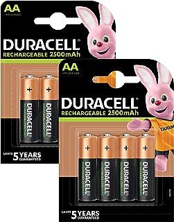 Duracell Ultra Oplaadbare AA Batterijen, 2500 Mah, 8 Stuk