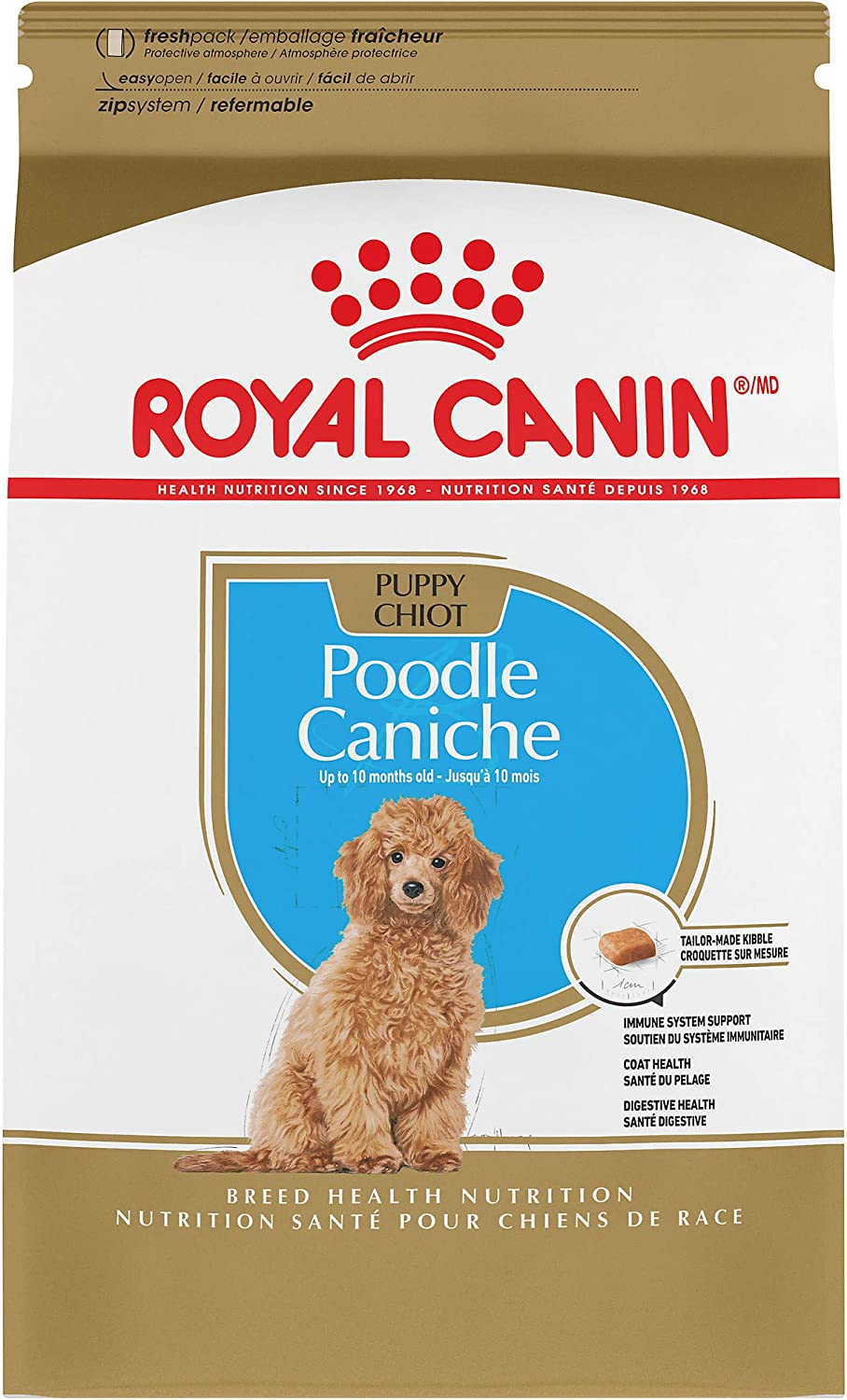 Royal Canin Breed Health Nutrition Poodle Puppy Dry Dog Food, 2.5Pound