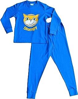 ThePyjamaFactory Stampy Cat Unisex Long Pyjamas Stampy Long Nose Face Blue