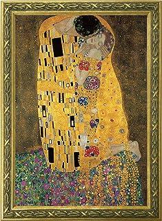 トライエックス アートフレーム/静物 ゴールド フレーム付き アートポスター 接吻 クリムト ゴールドフレーム TXA-005G