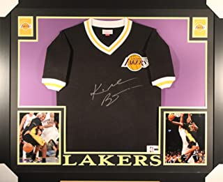 ba6e8fe9bb8 Kobe Bryant Los Angeles Lakers Signed Autograph Custom FRAMED Mitchell    Ness Shooting Shirt Jersey Panini