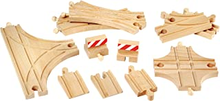 BRIO World - 33307 Advanced Expansion Pack | 11 Piece Set of Wooden Train Tracks for Kids Ages 3 and Up