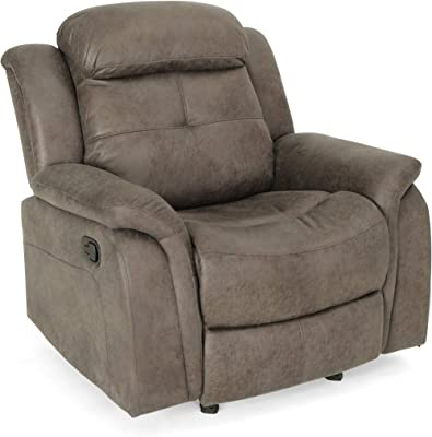 Christopher Knight Home Cory Rocking Glider Recliner, Slate + Black