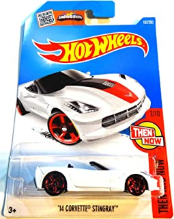Hot Wheels, 2016 Then and Now, Corvette Grand Sport Roadster [White] #102/250