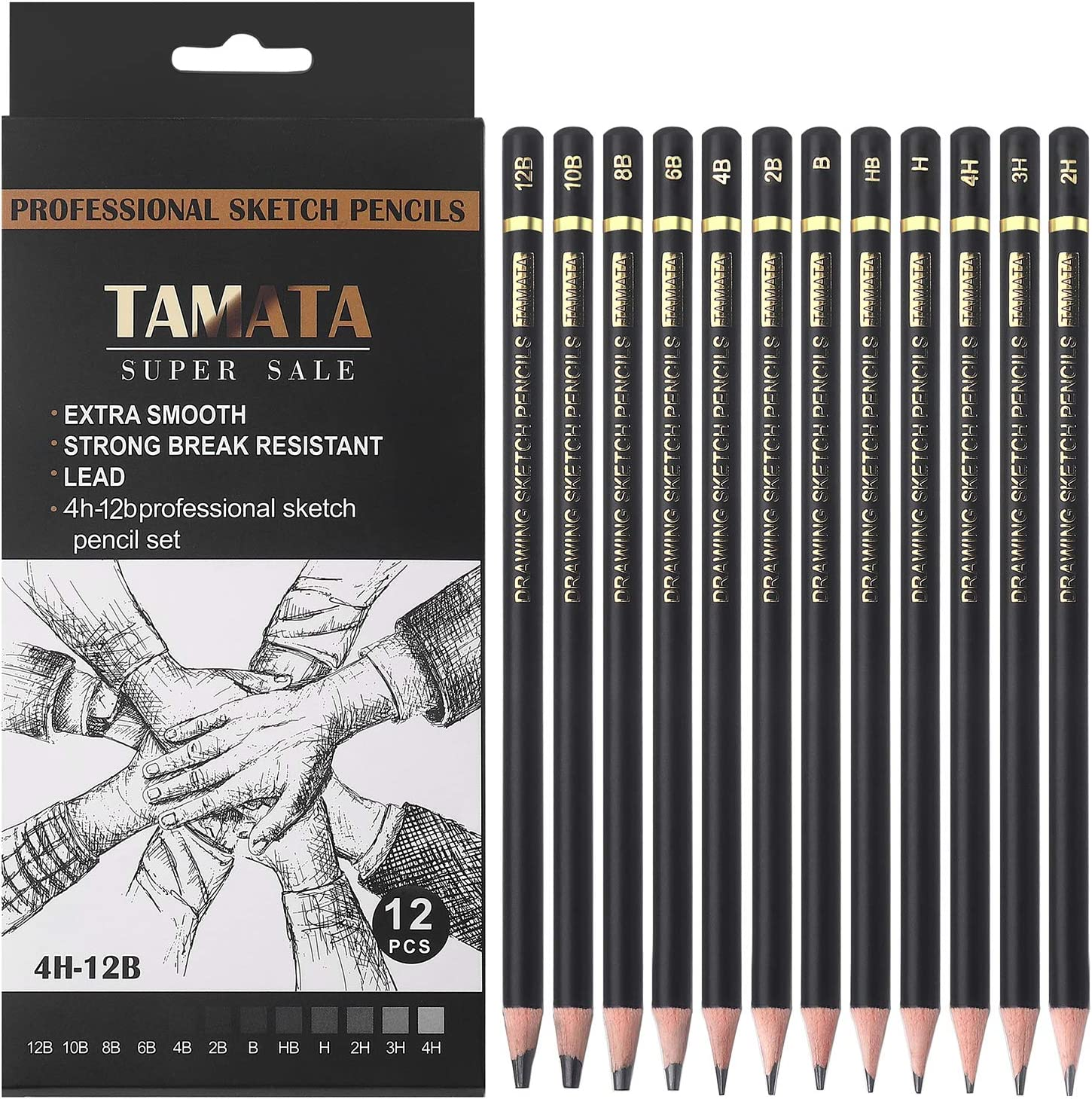 TAMATA Professional Drawing Sketching Pencil - Ranking TOP5 Set Pieces 12 Discount is also underway Art