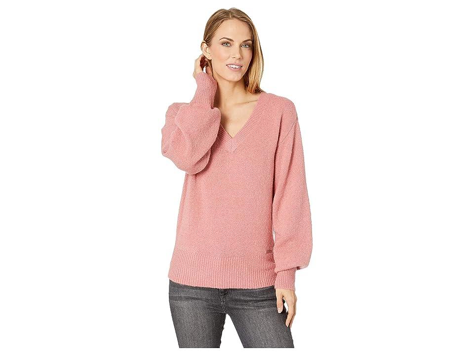 MICHAEL Michael Kors V-Neck Big Sleeve Sweater (Dusty Rose) Women
