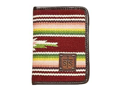 STS Ranchwear Buffalo Girl Serape Magnetic Wallet (Maroon/Pink/Green) Bags