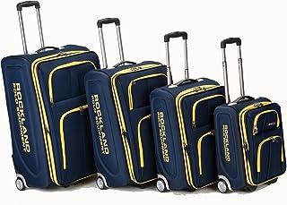 Rockland Equipaje Varsity Polo Equipamiento 4 piezas Equipaje de equipaje, Marino, Una talla