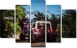 Jeep Switchback Concept Rear Wall Art Canvas Framed Print 5 pieces Home Decor Ready to Hang