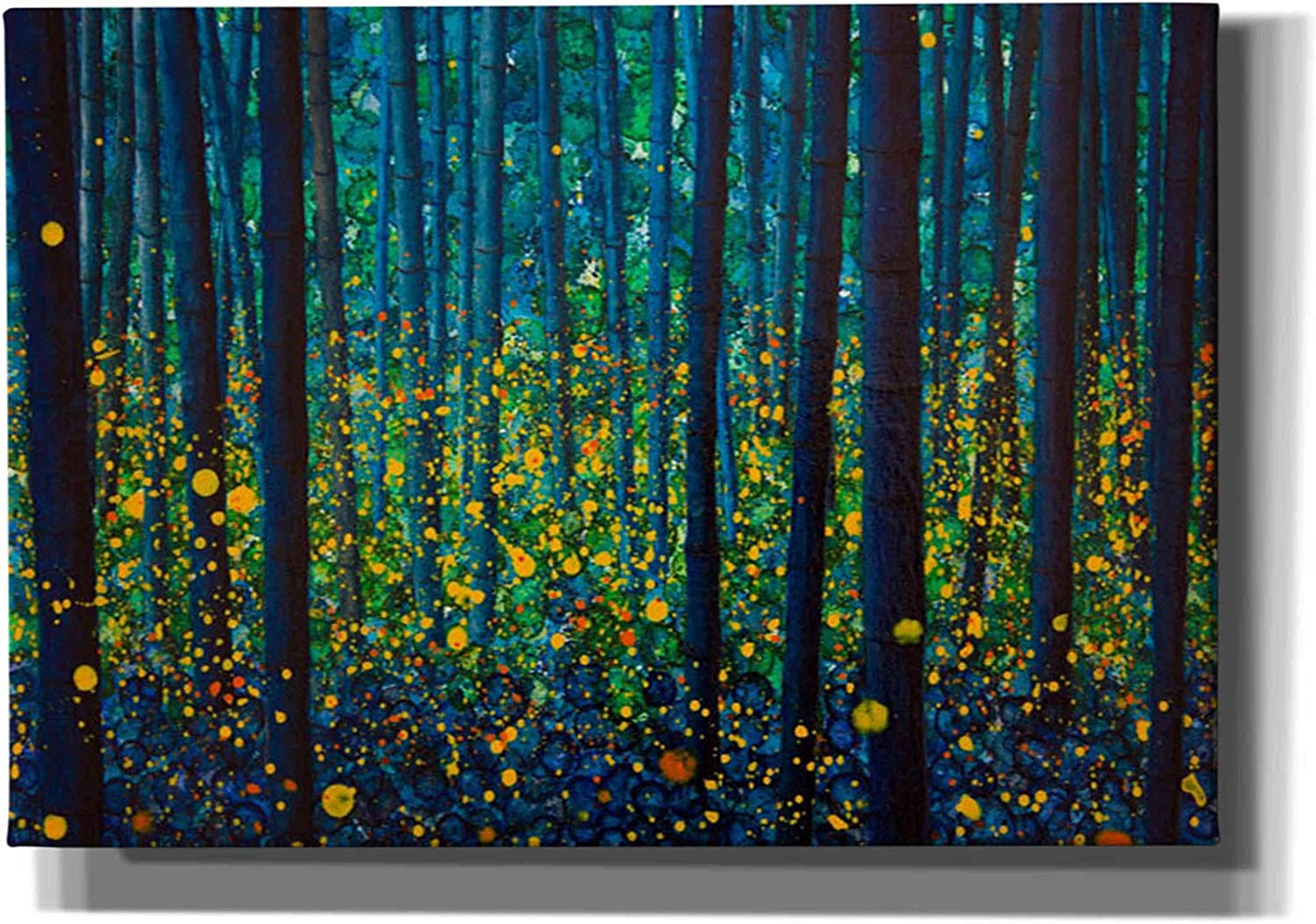 Epic Graffiti 'Fireflies' by DB Save Be super welcome money Wall Waterman Giclee Art Canvas