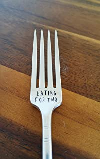 Eating for Two - Mother To Be Gift - Engraved Fork - New Mom - Baby Shower Gift