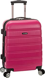 Melbourne 20 Inch Expandable Abs Carry On Luggage, Magenta, One Size