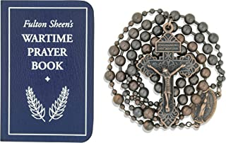 Good Shepherd Creations Military Rosary with Fulton Sheen's Wartime Prayer Book