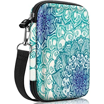 Fintie Protective Case for Fujifilm Instax Mini Link Printer, HP Sprocket Plus/Select Photo Printer, Canon Ivy CLIQ, Ivy CLIQ+ Instant Camera Printer-Hard Shockproof Carry Bag (Emerald Illusions)