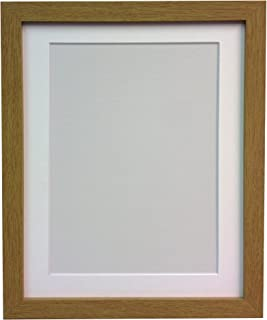 FRAMES BY POST H7 Picture Photo Frame, Wood, Oak with White Mount, 9 x 7 Image Size 7 x 5 Inch