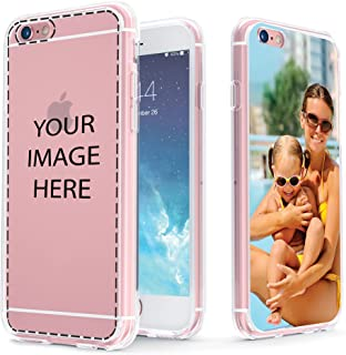 True Color Case Compatible with iPhone 6s Plus Case, Customized iPhone 6 Plus Case, Create Your Own Personalized Custom Picture HD Printed on Clear Back - Shock Absorbing Protective Bumper Cover