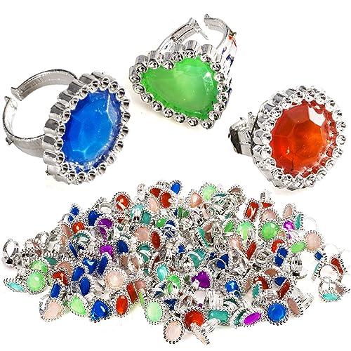 2c9fb401a Tigerdoe Rhinestone Plastic Rings – Princess Rings – Gemstone Rings -  Princess Theme Party Favors -