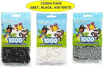 Perler Bead Bag, Grey (Grey-Black-White)