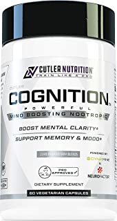 COGNITION High Potency Brain Nootropic Focus Supplement: Best Nootropic and Energy Pills for Mental Clarity, Memory, Study...
